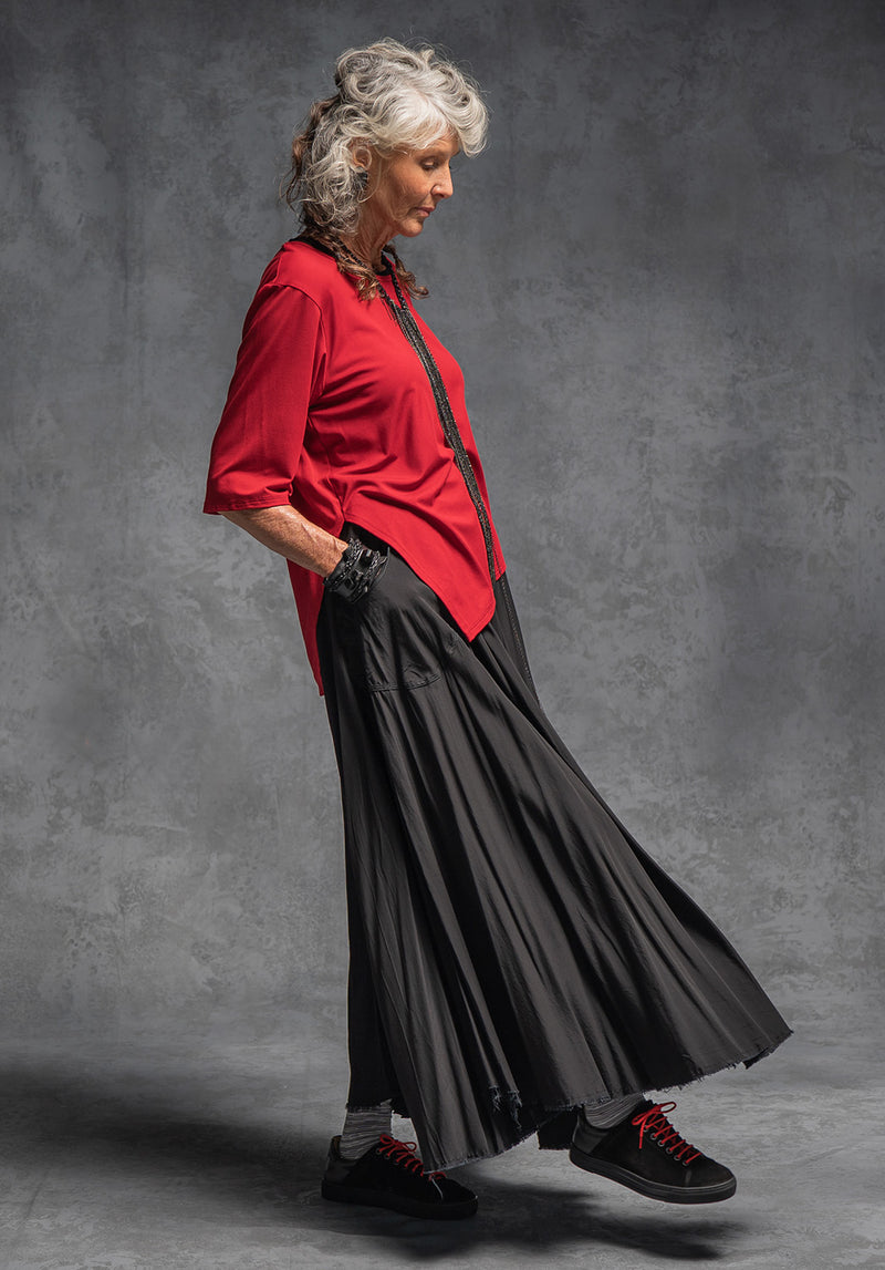 Mist maxi skirt black viscose