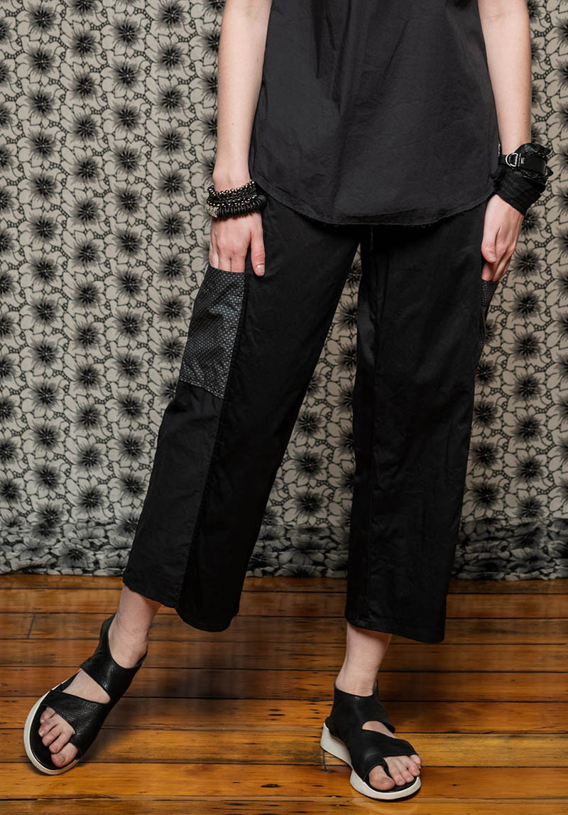 Montage pant black/Japanese cotton