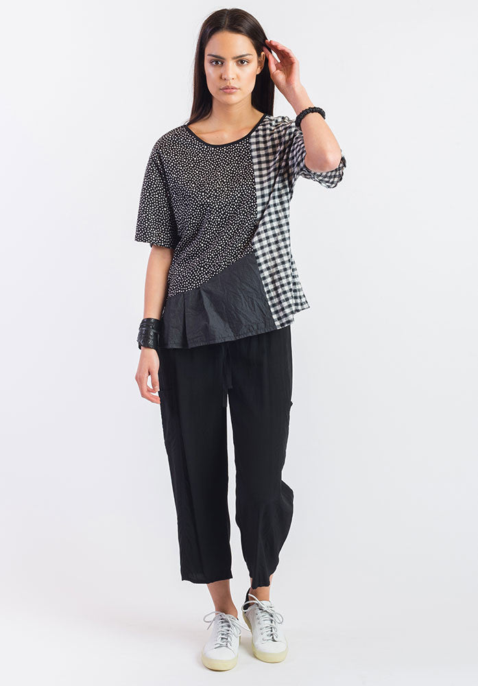 Montage top dotty cotton