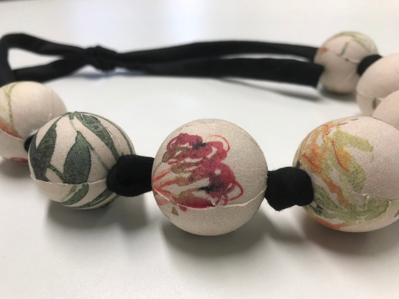 Japanese handmade natural grevillea fabric orbs