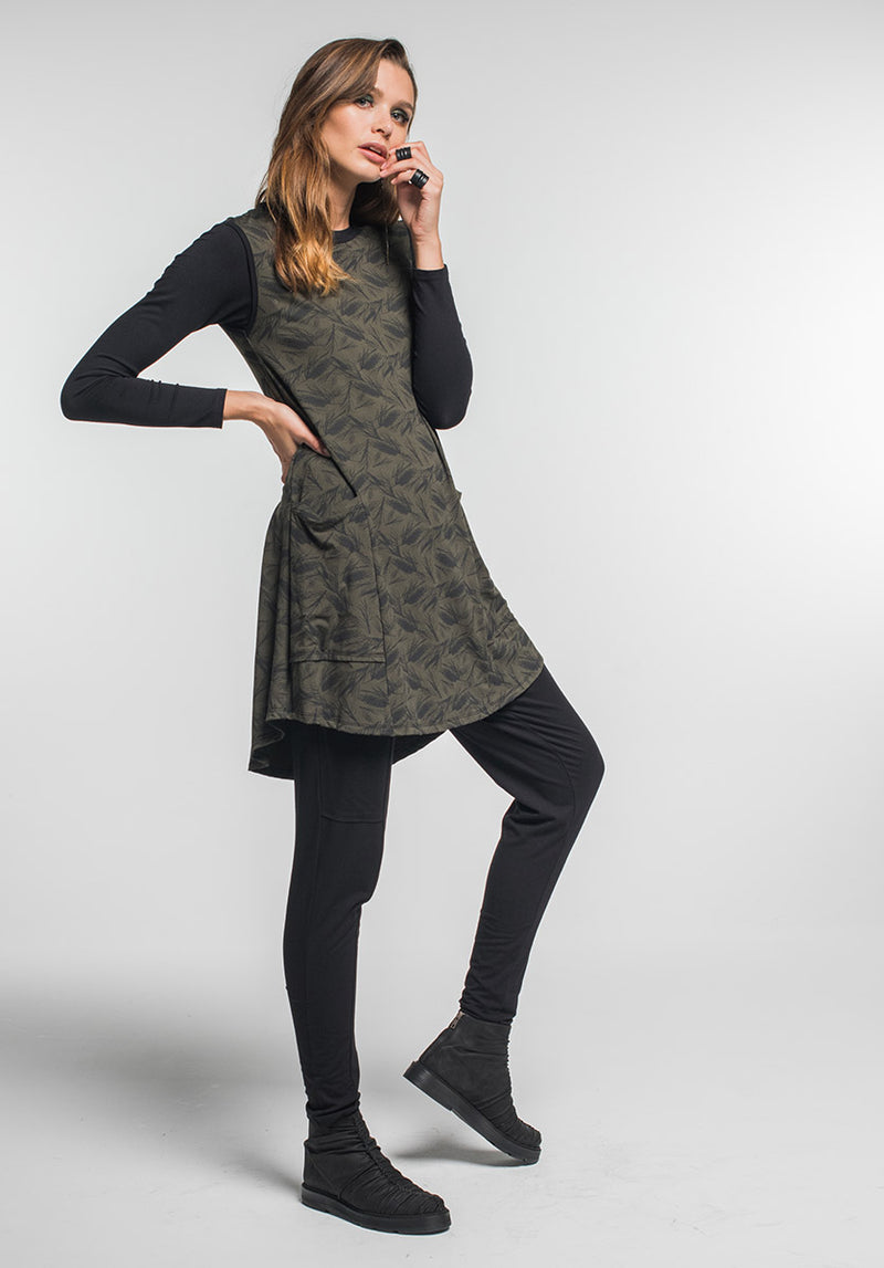 Nancy dress Olive grevillea