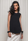 Nancy top Black | Bamboo Jersey Fashion | 100% Made in Australia