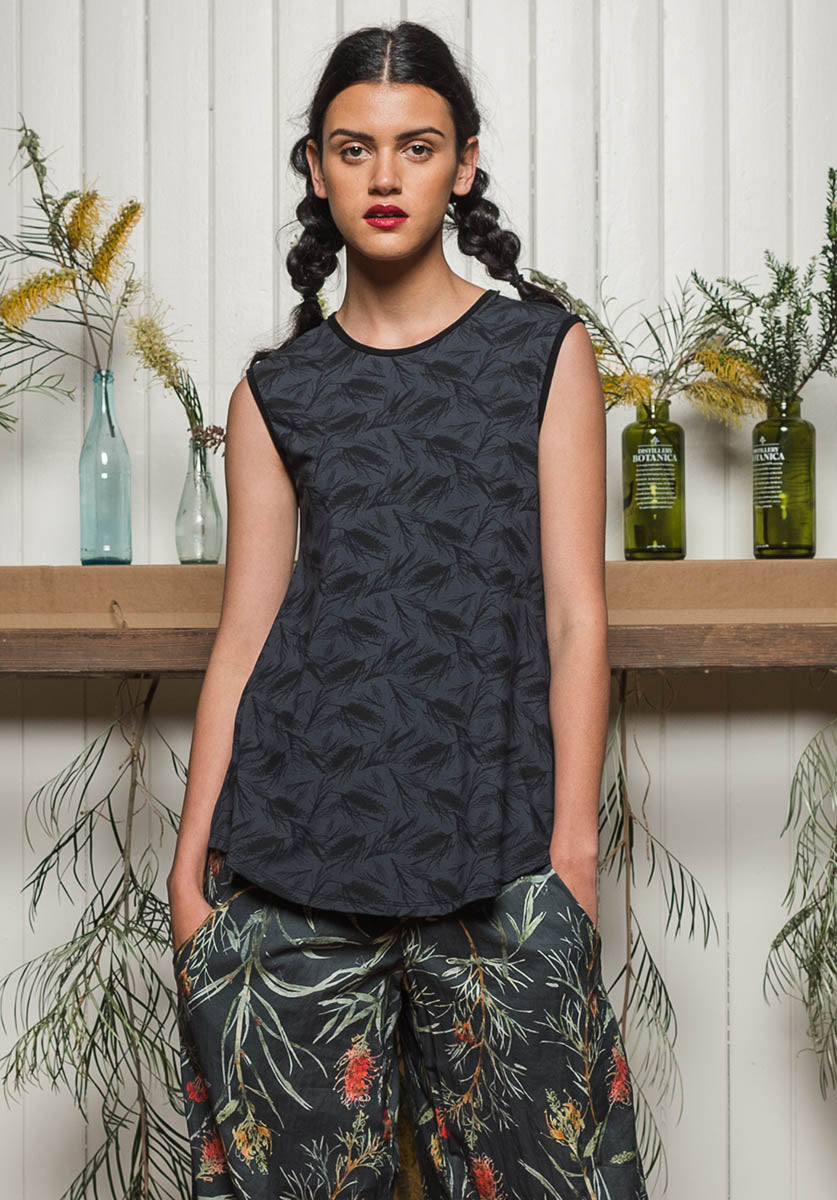 Nancy top Storm grevillea | Sustainable and Ethical Bamboo Fashion