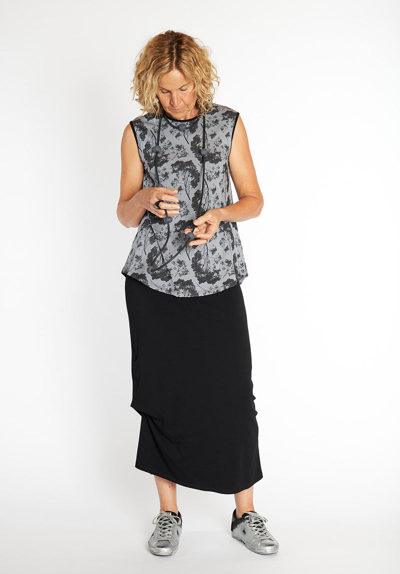 Nancy top Silver gum print