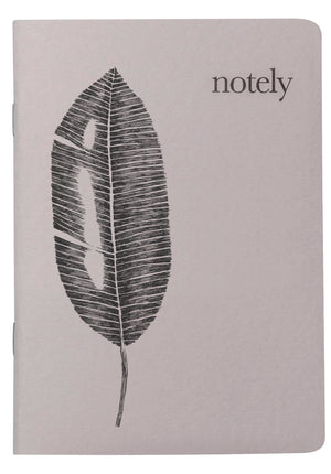 Leafy A6 Pocket Notebook (Set of 2) - Light Grey & Light Grey