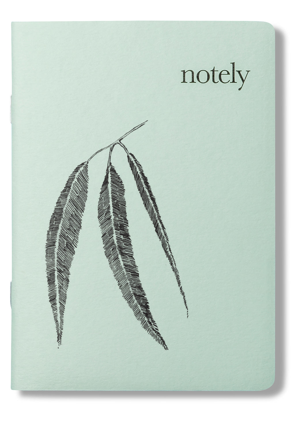 Leafy A6 Pocket Notebook (Set of 2) - Spearmint & Grey