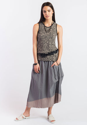 Obsidian top taupe yarn | Summer Bamboo Tops | Sustainable Fashion