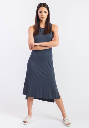 Obsidian dress charcoal
