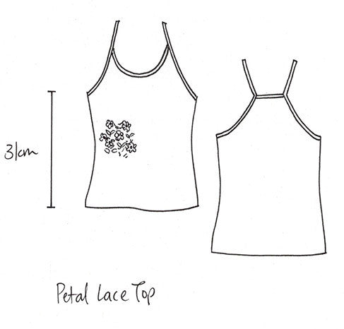 Petal lace top natural
