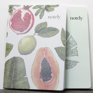 Perfectly Picked & Minty Leaf - A5 Notebook (Set of 2)