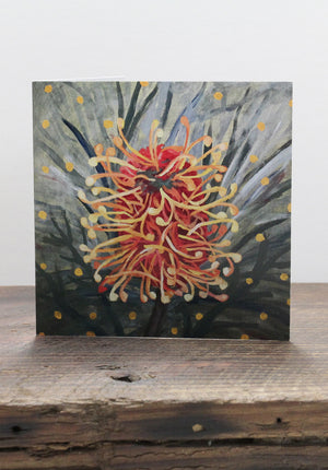 Red and Yellow Grevillea Card