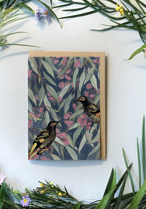 Regent Honeyeater Greeting Card