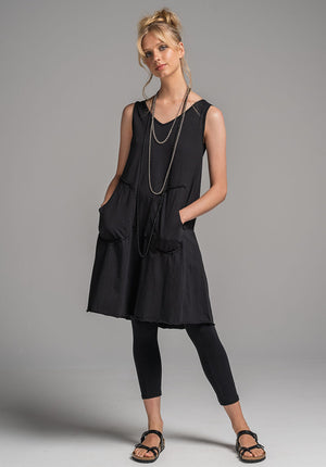 Rose dress black