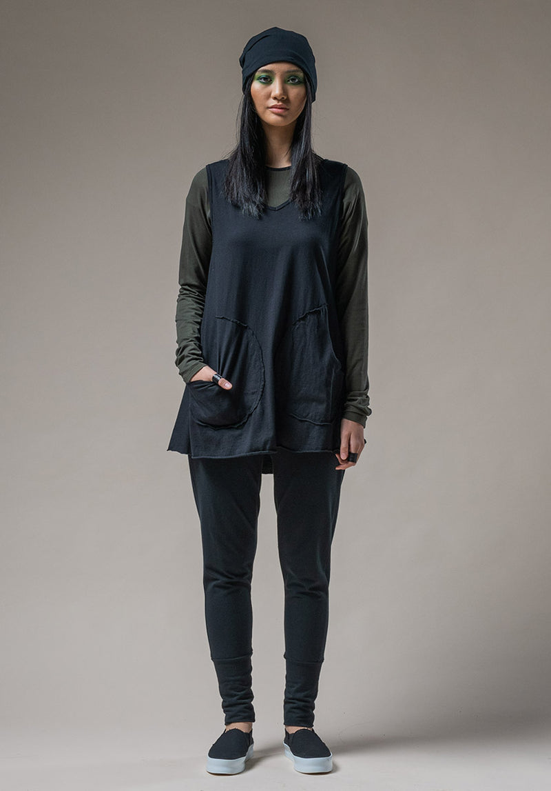 Rose tunic black