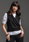 Seer vest black prewashed viscose