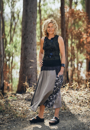 australian made tencel skirts, printed skirts online, australian made printed skirts, ethical clothing online