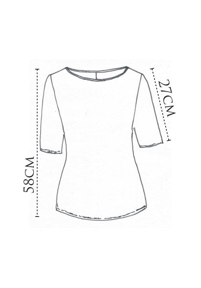 Sibyl tee black mercerised cotton