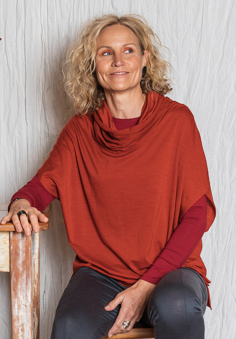sustainable fashion online, womens fashion over 40s, womens fashion over 50, australian fashion designers, womens wool tops, ethical wool fashion, australian boutiques