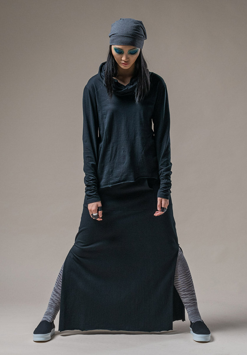 Split skirt black