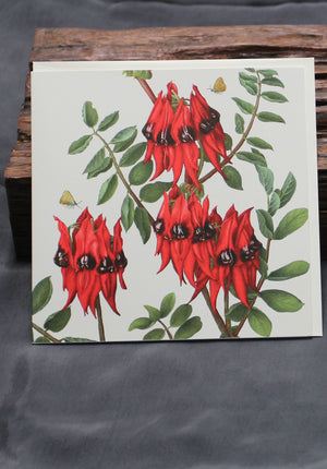 Sturt Pea Art Card