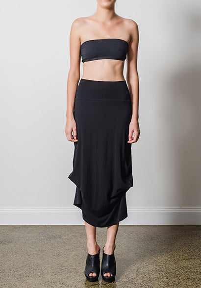 Thea skirt black | Bamboo Jersey Skirts | Australian Made Clothing