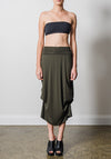 Thea skirt olive | Bamboo Jersey Fashion | Sustainable Clothing