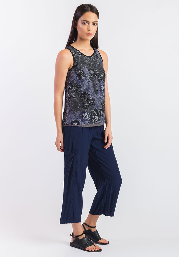 Triumph pant ink viscose