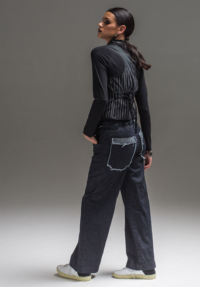 CARRIE vest pinstripe