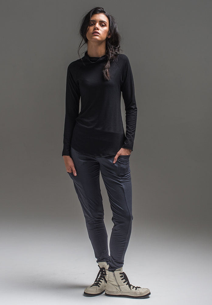 Wool Nellie pant charcoal