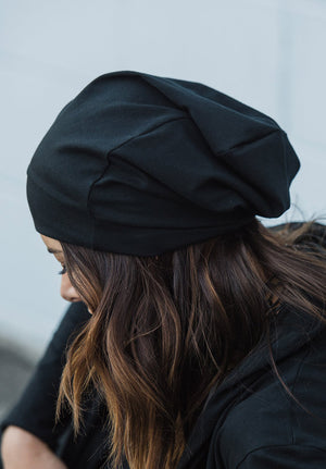 Slouch beanie - black or marle