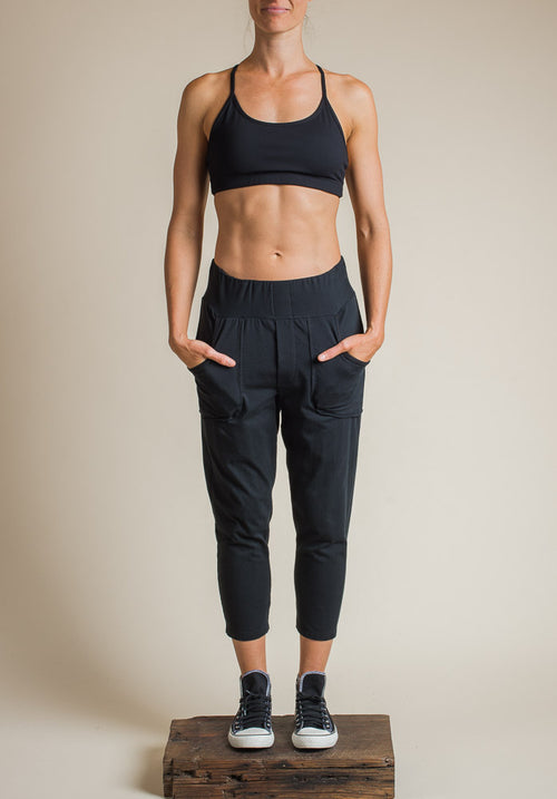 Trinity pant cropped black