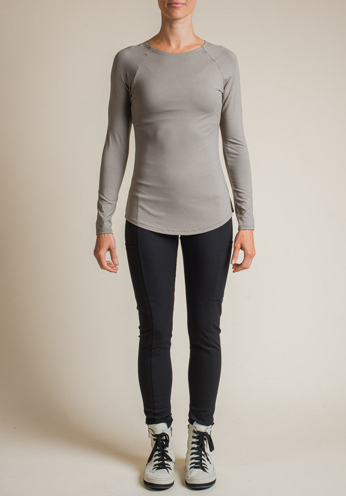 Multitude top taupe | Eco-Friendly and Ethical Bamboo Clothing
