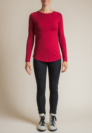 Multitude top ruby | Bamboo Long Sleeved Tops | Sustainable Fashion