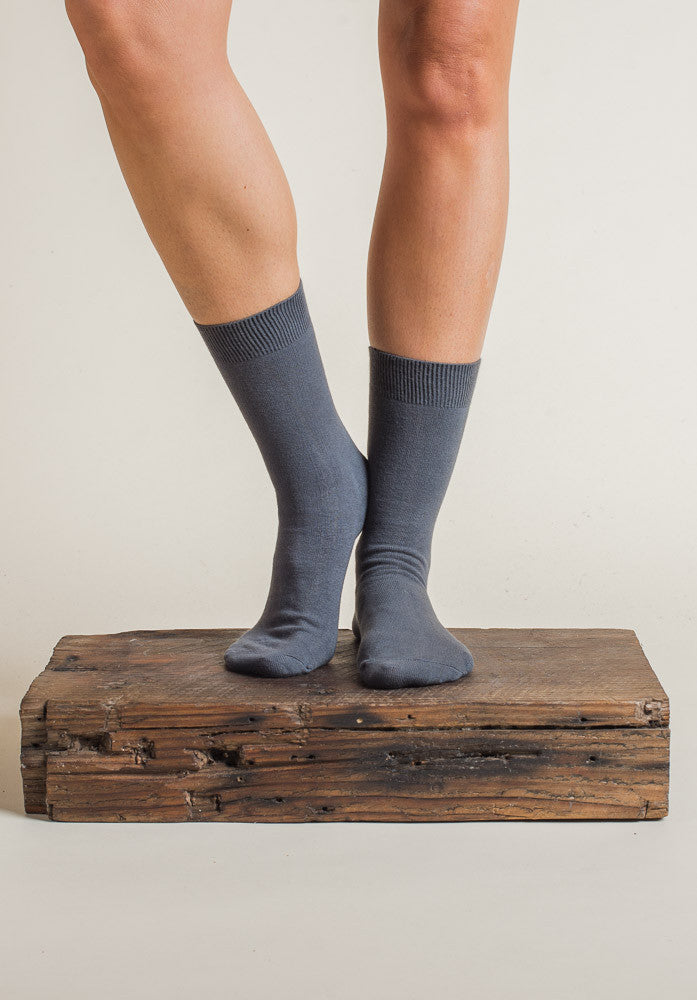 Australian made Cotton Socks charcoal (2 sizes)