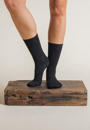 Australian made Cotton Socks black (2 sizes)
