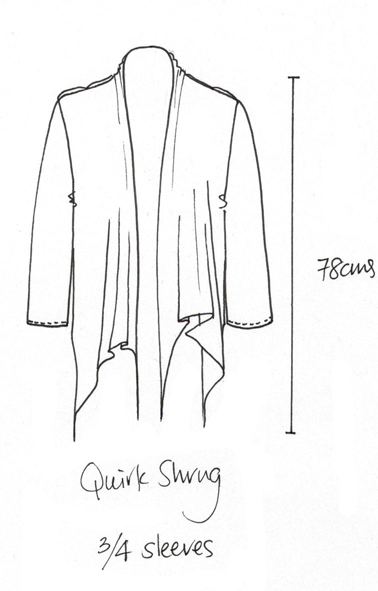 Quirk shrug white 3/4 sleeve