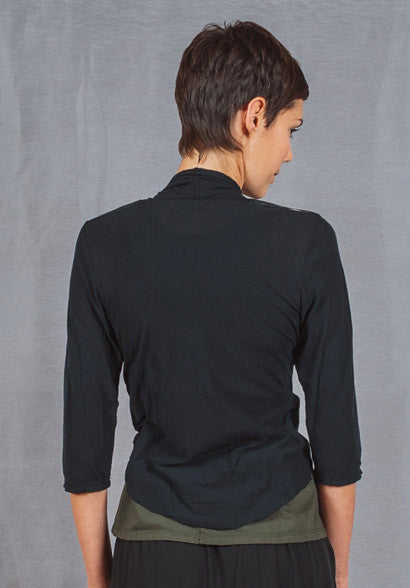 Quirk shrug 3/4 sleeve black