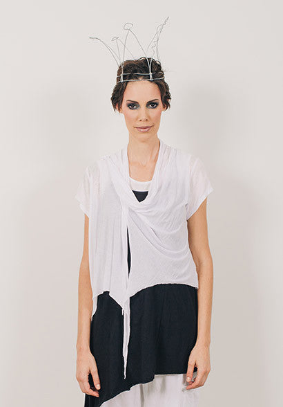Quirk shrug white short sleeve