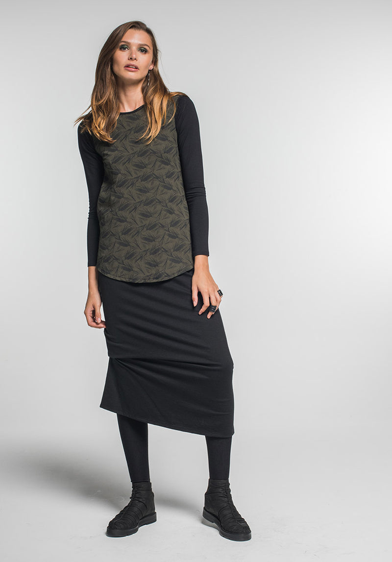 Wool Thea skirt black