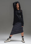 Wool Thea skirt charcoal