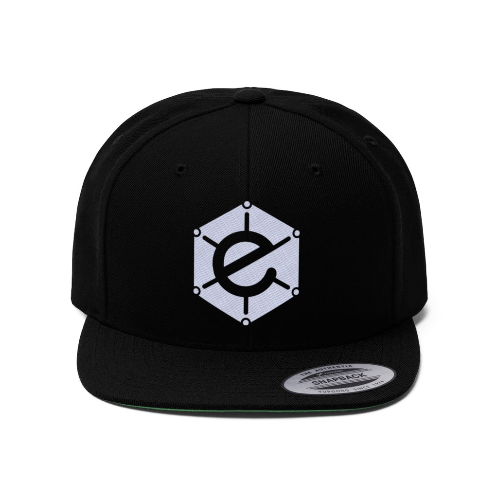 Electra SnapBack Flat Bill Hat with White logo