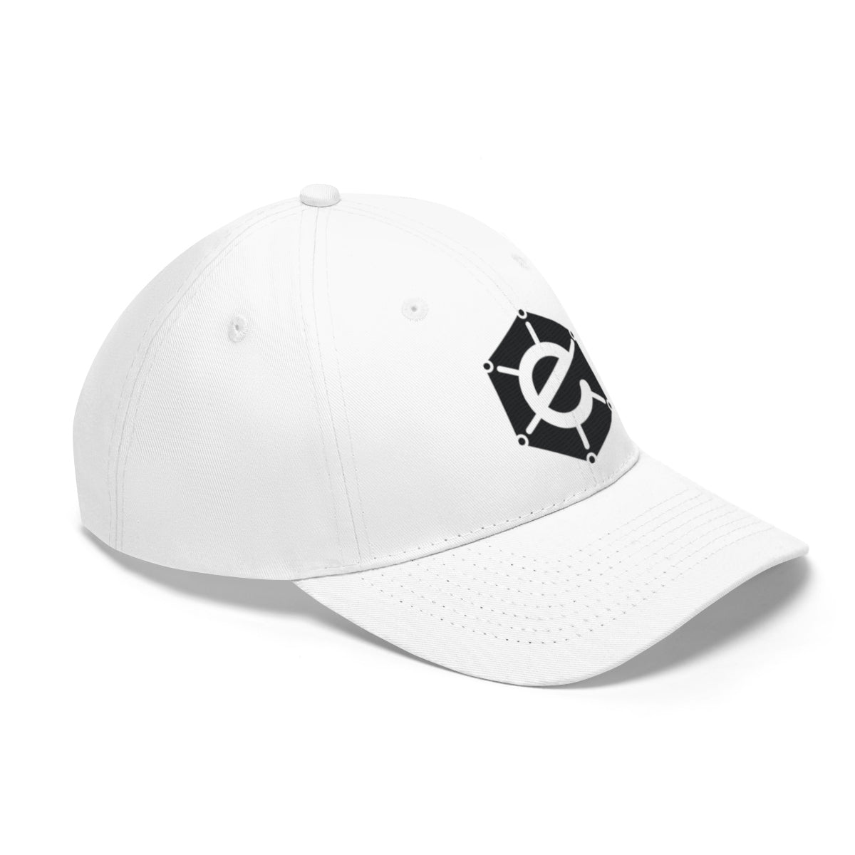 White Electra Hat with Black Logo