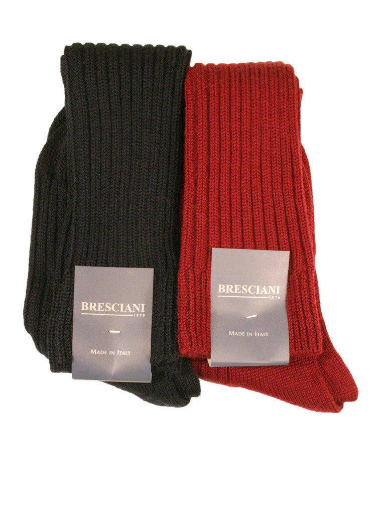 Bresciani Heavy Wool Rib Boot Sock - Men's