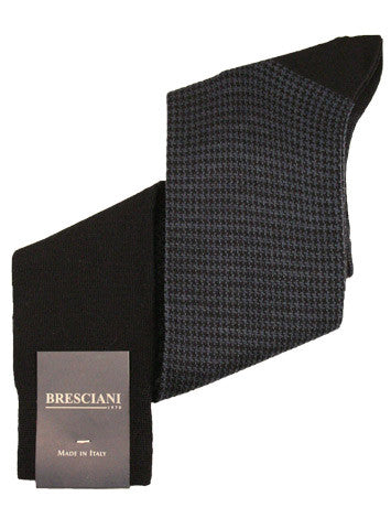 Bresciani Wool Houndstooth Over the Calf - Men's