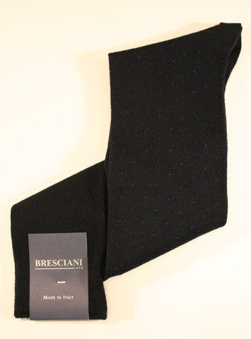 Bresciani Wool Pin Dot Over the Calf - Men's