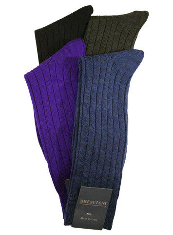 Bresciani Wool Rib Crew - Men's
