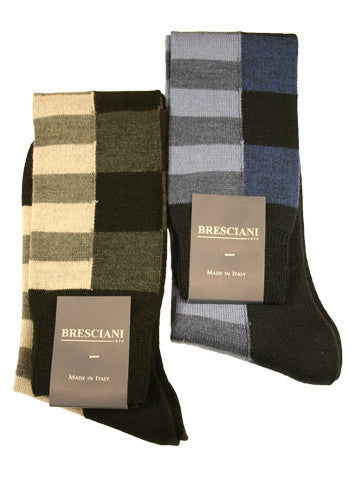 Bresciani Wool Geometry Over the Calf - Men's
