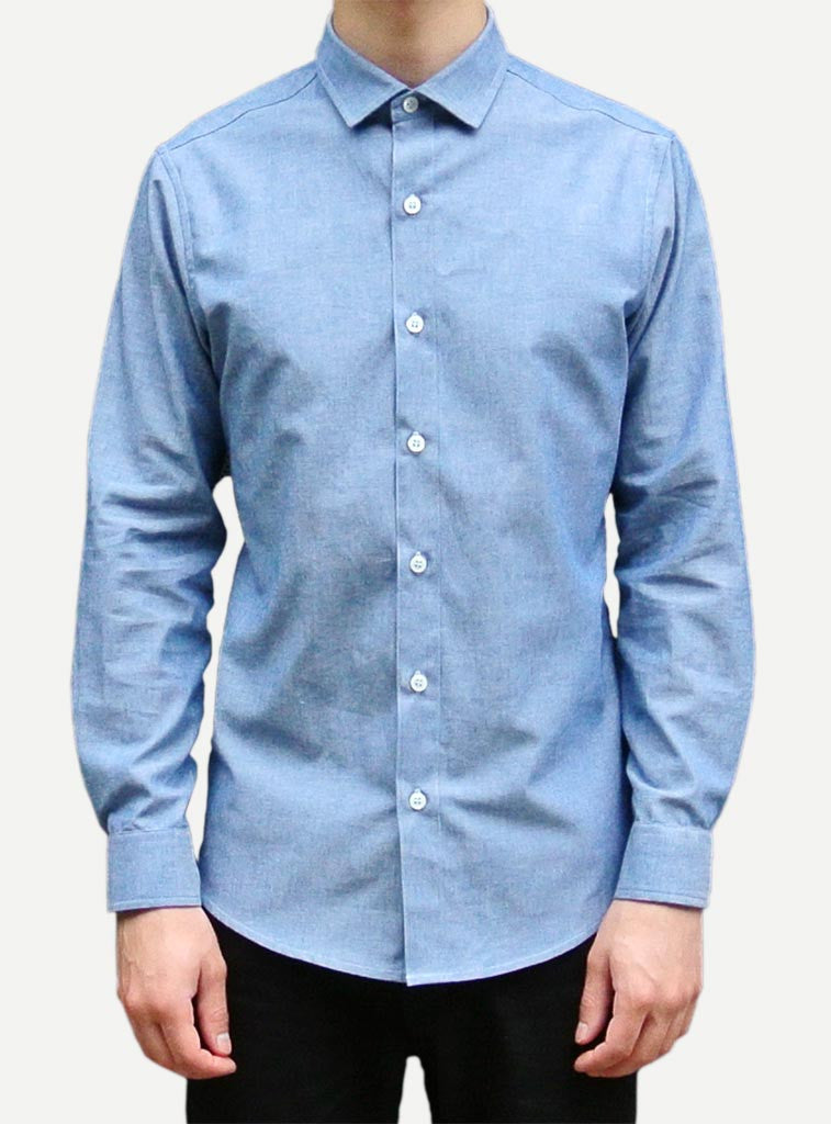 Shirting by The Sock Hop - Dean Chambray Long Sleeve