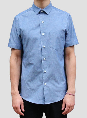 Shirting by The Sock Hop - Dean Chambray Short Sleeve
