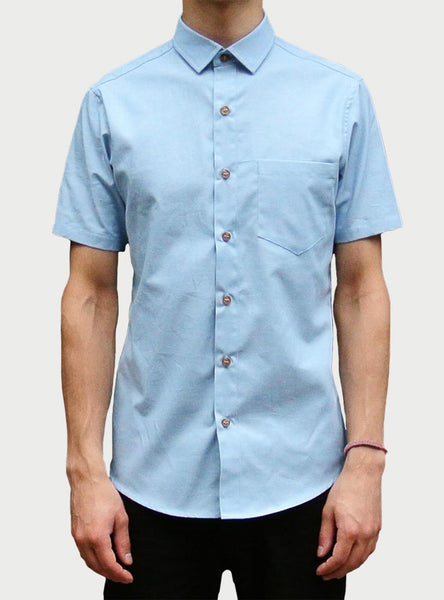 Shirting by The Sock Hop - Sky Chambray